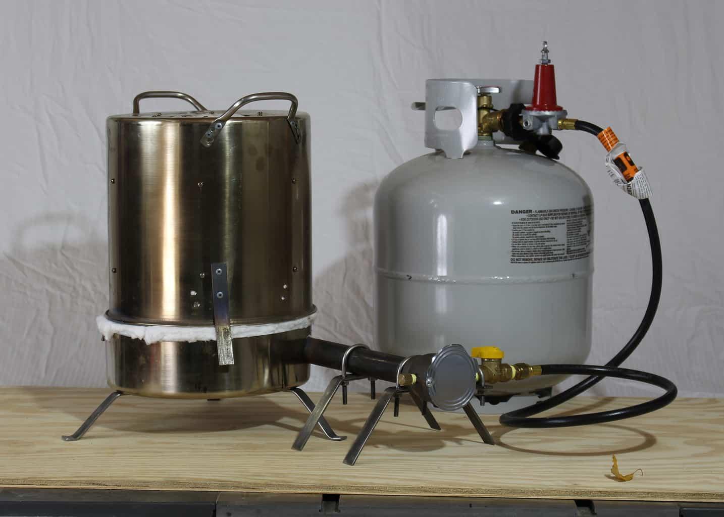 portable lightweight propane foundry makercise